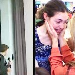 Teen has no date to prom, then mystery guest walks out and she runs back to mom in tears.