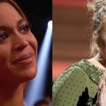 Adele brings Beyonce to tears with her praise during Grammy acceptance speech.
