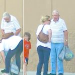 Old man drops items at Walmart, mom breaks down when she learns he tricked her into helping.