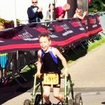 How this boy with cerebral palsy chose to finish a triathlon is incredible.