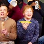 Watch Ed Sheeran, Jimmy Fallon and the Roots perform 'Shape Of You' with classroom instruments.