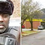 Security guard at Waffle House notices sobbing man with boy, puts them in his car and drives off.