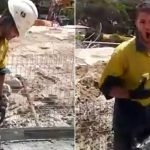 Construction worker halts job, proves to co-workers he can 'sing like Pavarotti'.