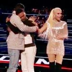 Adam Levine and Gwen Stefani rush to single dad's side after emotional audition for 'The Voice'.