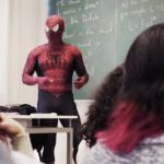 Professor comes to class dressed as Spider-Man, now his students are his biggest fans.