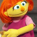 Julia, a Muppet with autism, joins the cast of 'Sesame Street'.