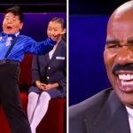 Hilarious little boy has Steve Harvey rolling with over-the-top Latin dance.