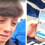 Boys says goodbye to grandparents at airport, then loses it when he sees third boarding pass.