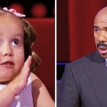 Tiny girl gives Steve Harvey lesson in anatomy, has audience rolling in laughter.
