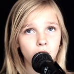 11-year-old sings chilling cover of 'The Sound of Silence'.