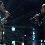 Usher joins 'The Voice' winner for heartwrenching duet honoring victims of Manchester bombing.