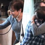 The touching moment mom hears her son's heart beat again in transplant recipient.