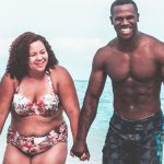 Swimsuit photo of a woman and her 'born fit' husband is inspiring others