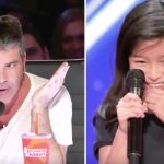 Simon rolls his eyes at girl who loves Celine Dion, then she proves she sounds like the singer.