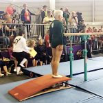 A 91-year-old gymnast completes impressive routine at Berlin competition.