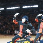 Jabbawockeez at the NBA Finals 2017 gives a creepily cool performance.