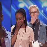 Teen tells judges he has a 'crush' before audition, then presents bandmate with mysterious teapot.