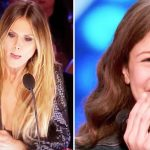 Shy 13-year-old takes the stage, powerful voice makes Heidi slam the 'golden buzzer'.