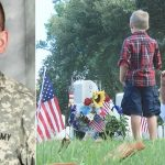 Soldier son dies, then mom visits grave to find a mysterious boy who keeps showing up there.