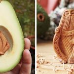 Most people throw away avocado pits, but this artist carves them into magical forest creatures.