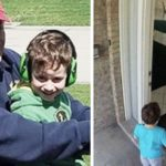 Little boy desperately misses deployed dad, then neighbor hears tiny knock at his door.