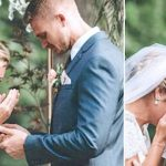 Preacher asks bride to bow head in prayer, when suddenly, she hears a different voice.