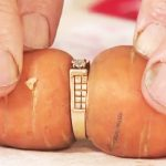 Woman loses her engagement ring in garden, finds it 13 years later… wrapped around a carrot.
