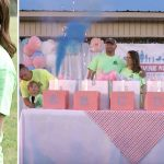 Gender reveal says mom is pregnant with another boy, but husband put 6 boxes on table.