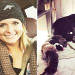 Miranda Lambert helps rescue 72 dogs stranded by hurricane, brings home mom and day-old puppies.
