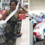 Mom of 3 returns home with massive grocery pile, then strangers show up at door.