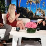 Ellen chats with single mom and the professor who let her bring baby to class.
