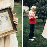 Widowed grandma cries at rehearsal when bride wears her perfectly preserved wedding dress.