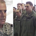 Air force general enraged by racial slurs, lines up airmen for powerful speech.