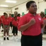 Little boy belts out 'Rise Up' solo. When his classmates join, you'll get chills.